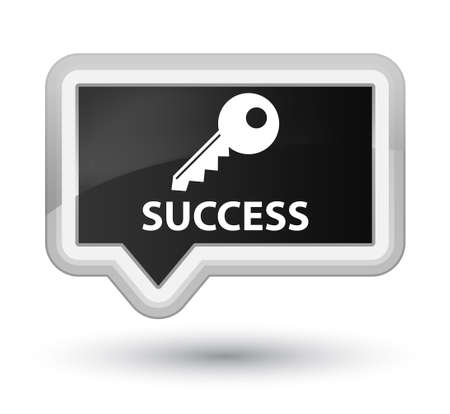 success key: Success (key icon) black banner button