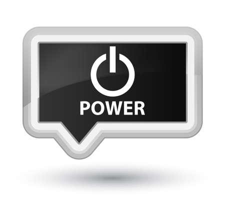 turn up: Power black banner button