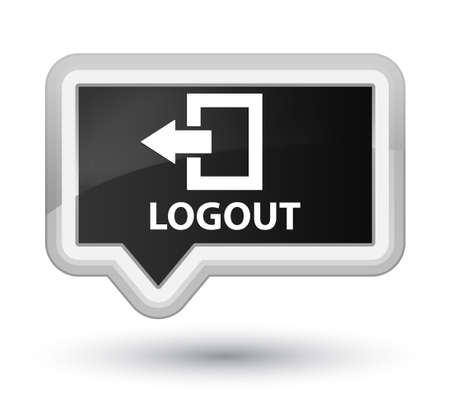 logout: Logout black banner button