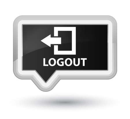disconnect: Logout black banner button