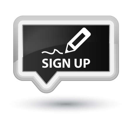sign up: Sign up black banner button