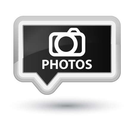 digital slr: Photos (camera icon) black banner button