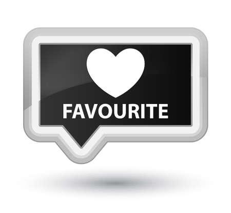 the favourite: Favourite (heart icon) black banner button