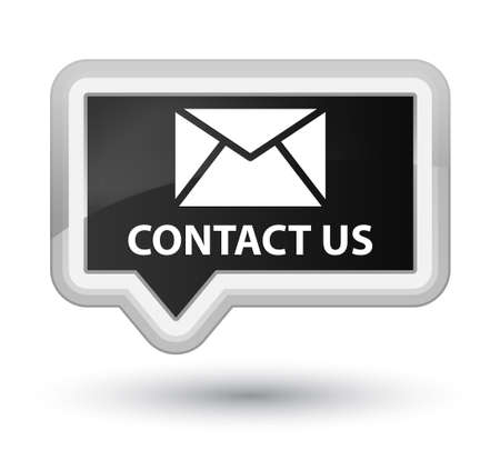 email contact: Contact us (email icon) black banner button
