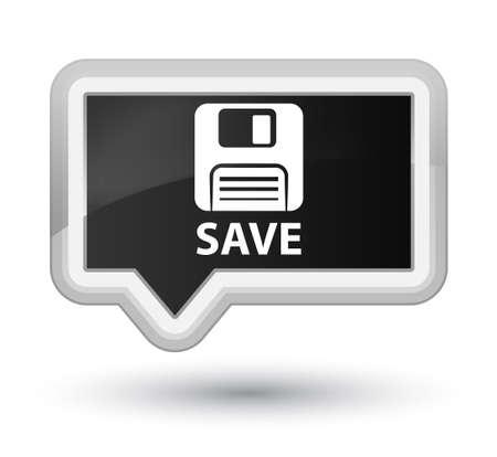 floppy: Save (floppy disk icon) black banner button