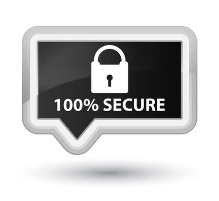 defend: 100% secure black banner button