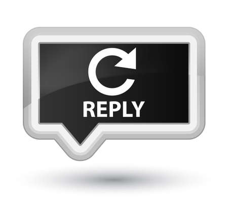 reply: Reply (rotate arrow icon) black banner button