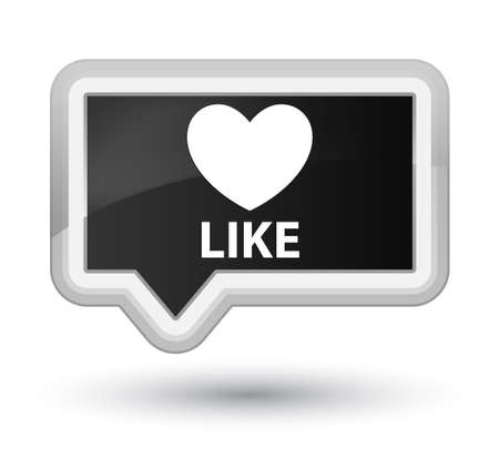 valentin's: Like (heart icon) black banner button Stock Photo