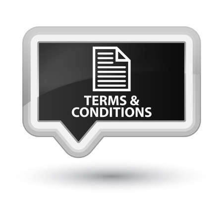 term and conditions: Terms and conditions (page icon) black banner button
