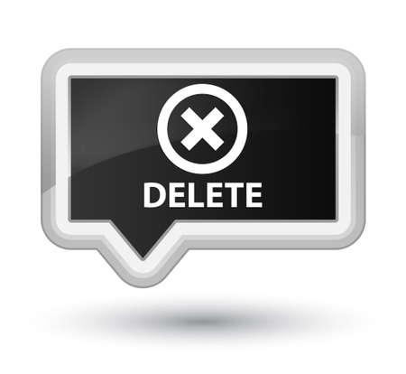delete: Delete black banner button