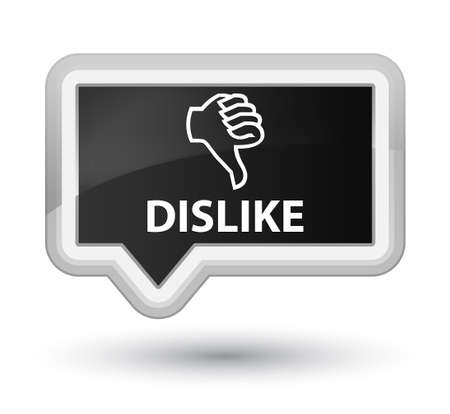 disapprove: Dislike black banner button