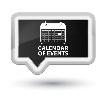 appointments: Calendar of events black banner button