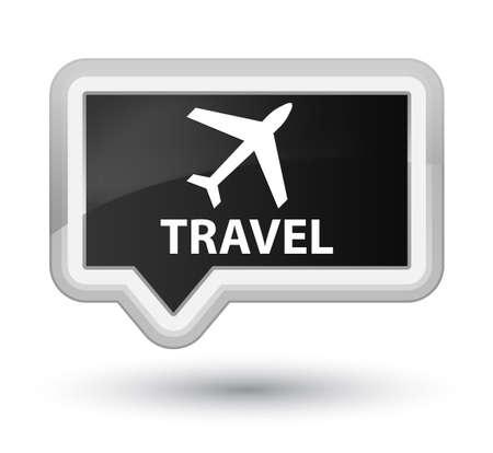 airway: Travel (plane icon) black banner button