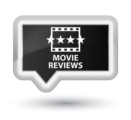 reviews: Movie reviews black banner button