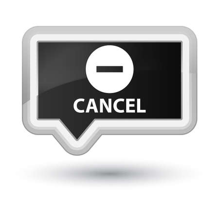 cancel: Cancel black banner button Stock Photo
