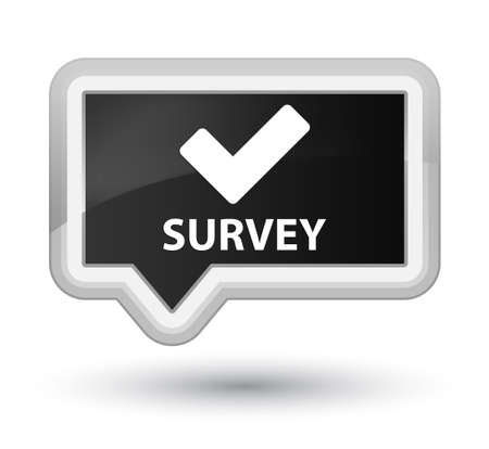 validate: Survey (validate icon) black banner button
