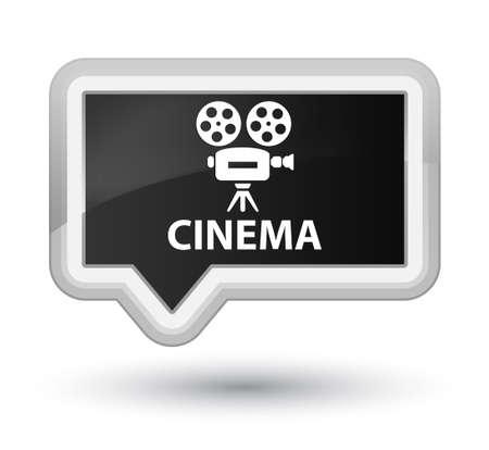 cinematographic: Cinema (video camera icon) black banner button