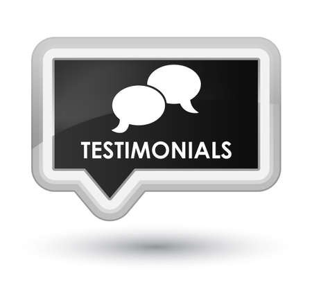 authenticate: Testimonials (chat icon) black banner button