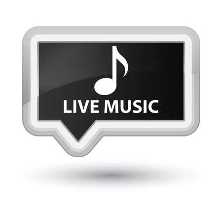 live music: Live music black banner button Stock Photo