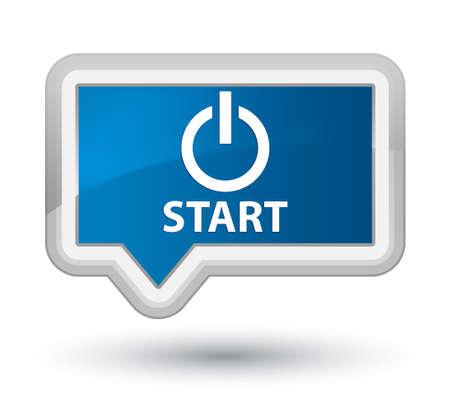 turn up: Start (power icon) blue banner button