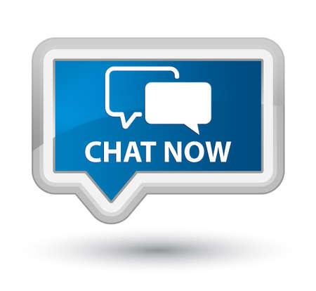 instant message: Chat now blue banner button