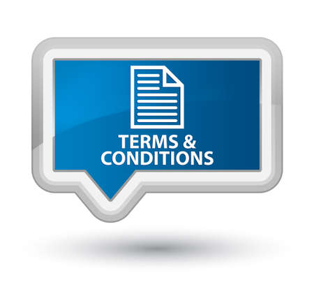 conditions: Terms and conditions (page icon) blue banner button