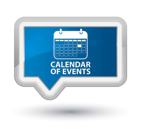 appointments: Calendar of events blue banner button