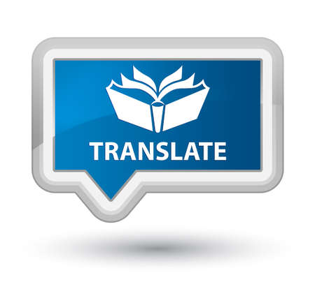 blue button: Translate blue banner button