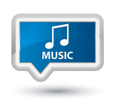 tune: Music (tune icon) blue banner button Stock Photo