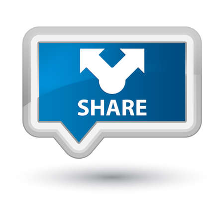 blue button: Share blue banner button Stock Photo