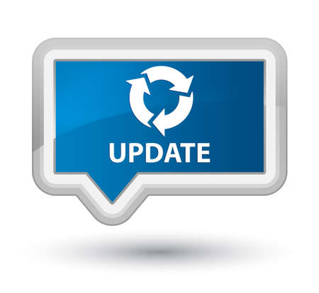 refresh icon: Update (refresh icon) blue banner button