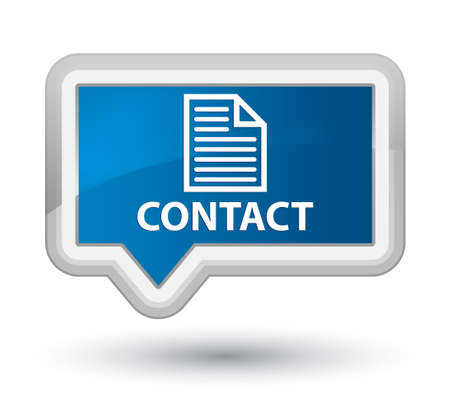 contact page: Contact (page icon) blue banner button Stock Photo