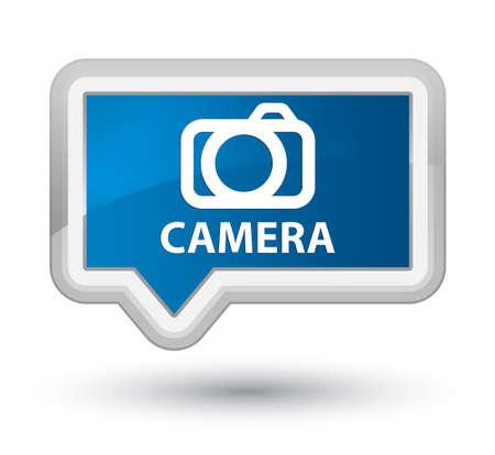 digital slr: Camera blue banner button