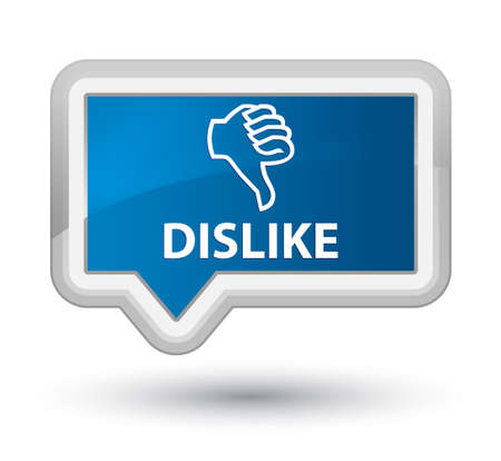 disapprove: Dislike blue banner button Stock Photo