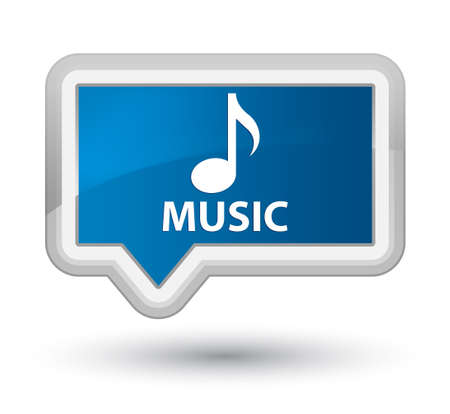 blue button: Music blue banner button Stock Photo