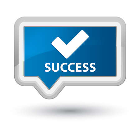 validate: Success (validate icon) blue banner button