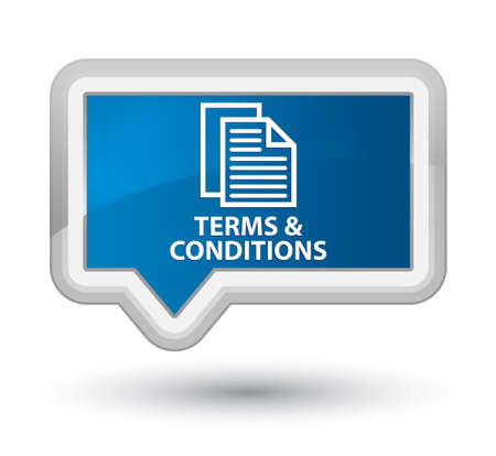 conditions: Terms and conditions (pages icon) blue banner button