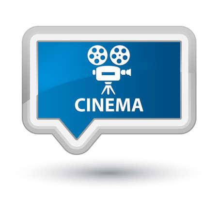 cinematographic: Cinema (video camera icon) blue banner button Stock Photo