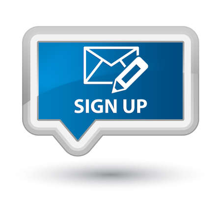 registry: Sign up (edit mail icon) blue banner button