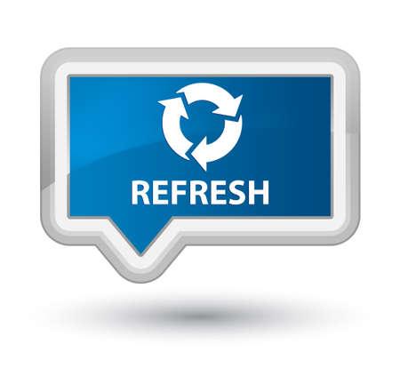 refresh button: Refresh blue banner button
