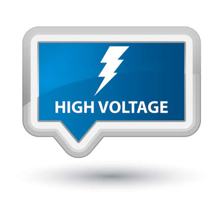 voltage: High voltage (electricity icon) blue banner button