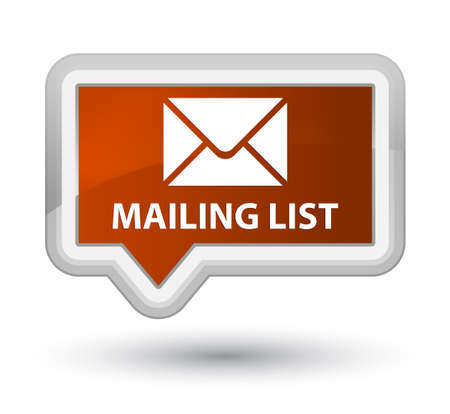 mailing: Mailing list brown banner button Stock Photo