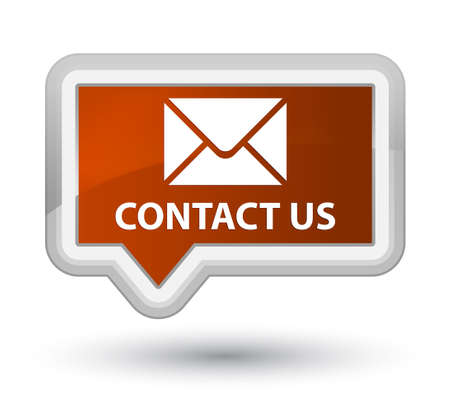 email contact: Contact us (email icon) brown banner button