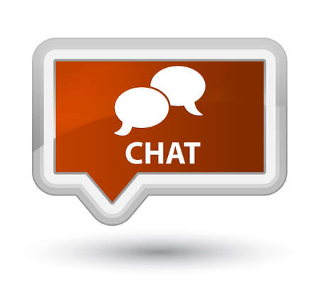 instant message: Chat brown banner button