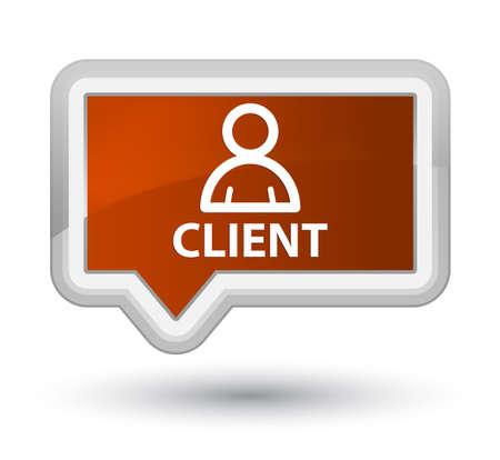 administrador de empresas: Cliente (icono de miembro) prieta botón bandera Foto de archivo