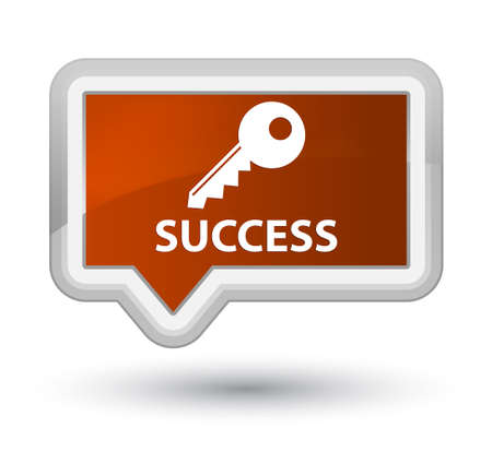 success key: Success (key icon) brown banner button
