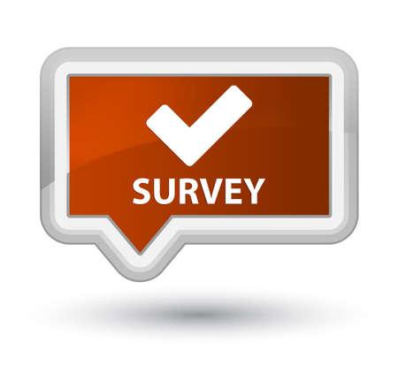 validate: Survey (validate icon) brown banner button