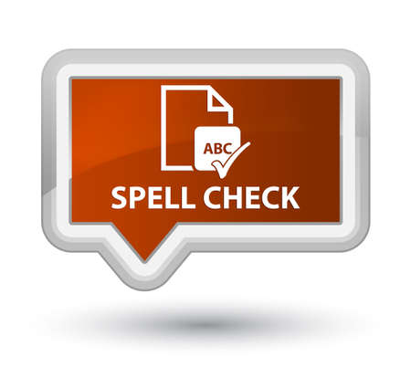 Spell check document brown banner button