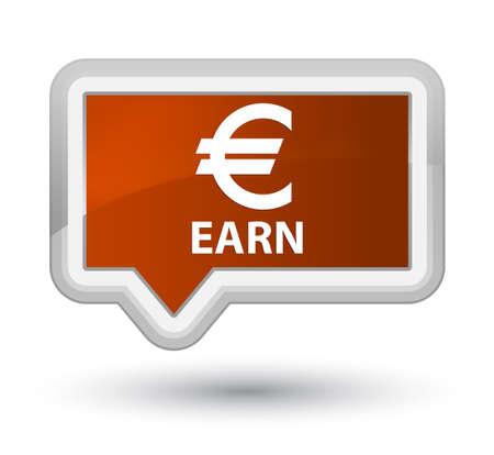 earn: Earn (euro sign) brown banner button