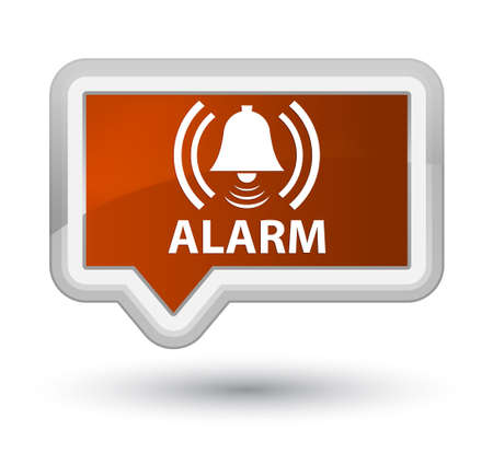 Alarm (bell icon) brown banner button